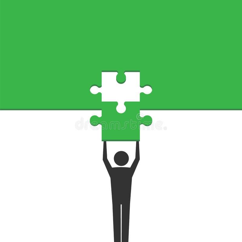 Completion mission concept. Vector illustration. royalty free illustration