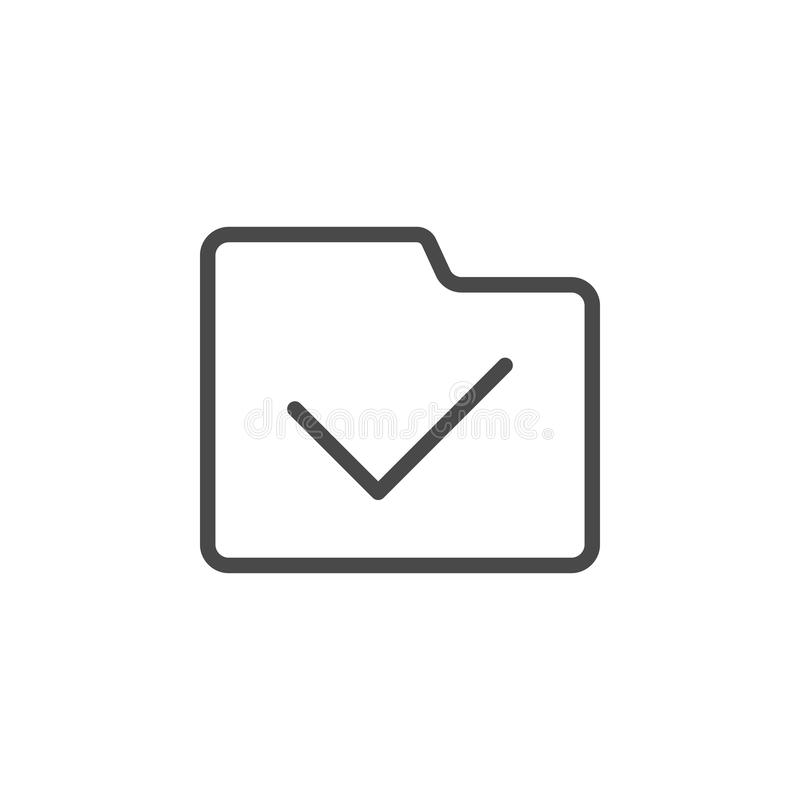 Completo, icona di vettore della cartella Icona minimalista di vettore del profilo di multimedia royalty illustrazione gratis