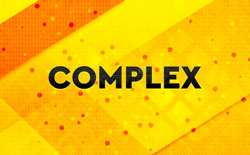 Complex abstract digital banner yellow background royalty free illustration