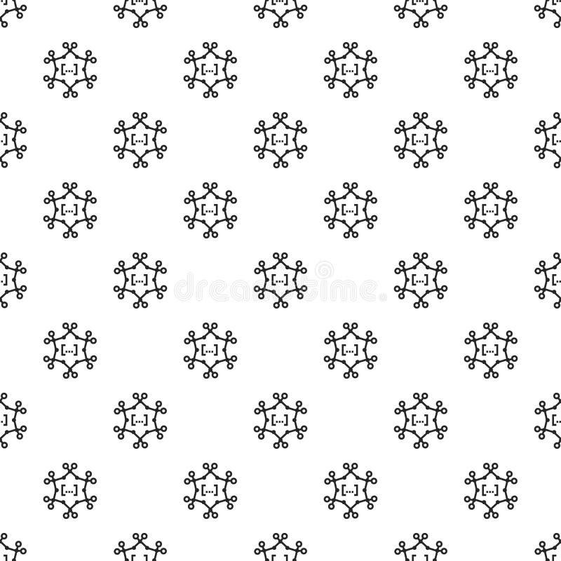 Complex chemisch naadloos formulepatroon stock illustratie