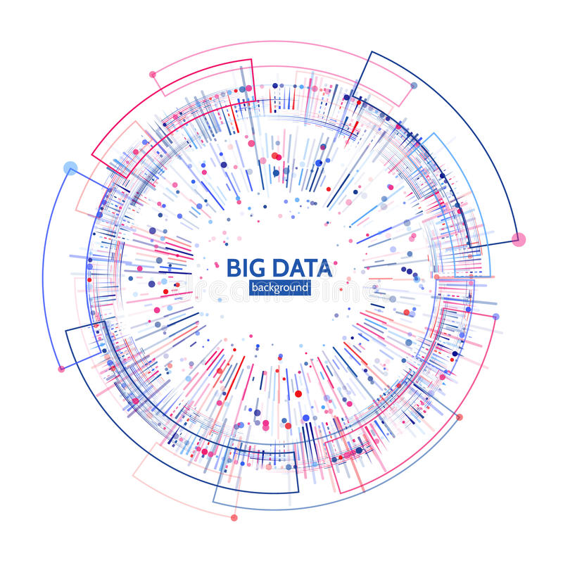 Complex data graphic visualization. Futuristic business analytics. Big data analys visualization with lines, dots and arrow. Elements. Futuristic infographic stock illustration