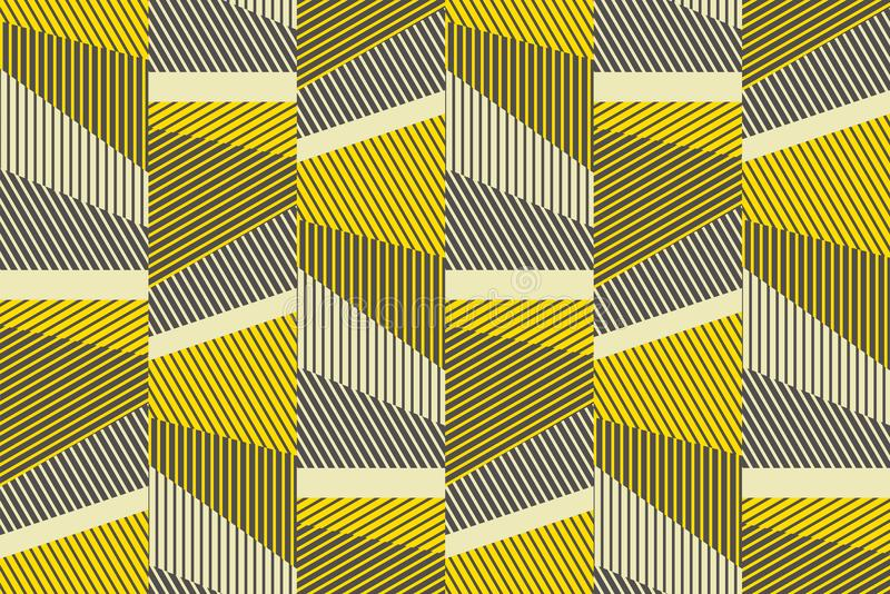 Complex geometric stripes seamless pattern. Abstract geometry lines repeatable motif for background, fabric, wrapping paper. complex stock vector illustration royalty free illustration