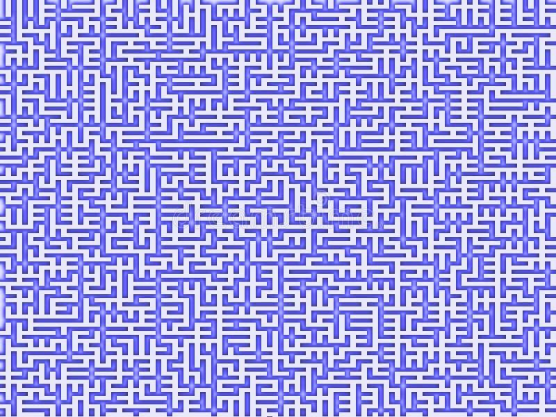 Complex Maze stock illustration