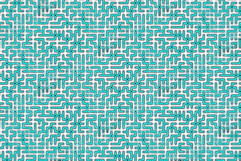 Complex Maze in Green and White Colors vector illustration