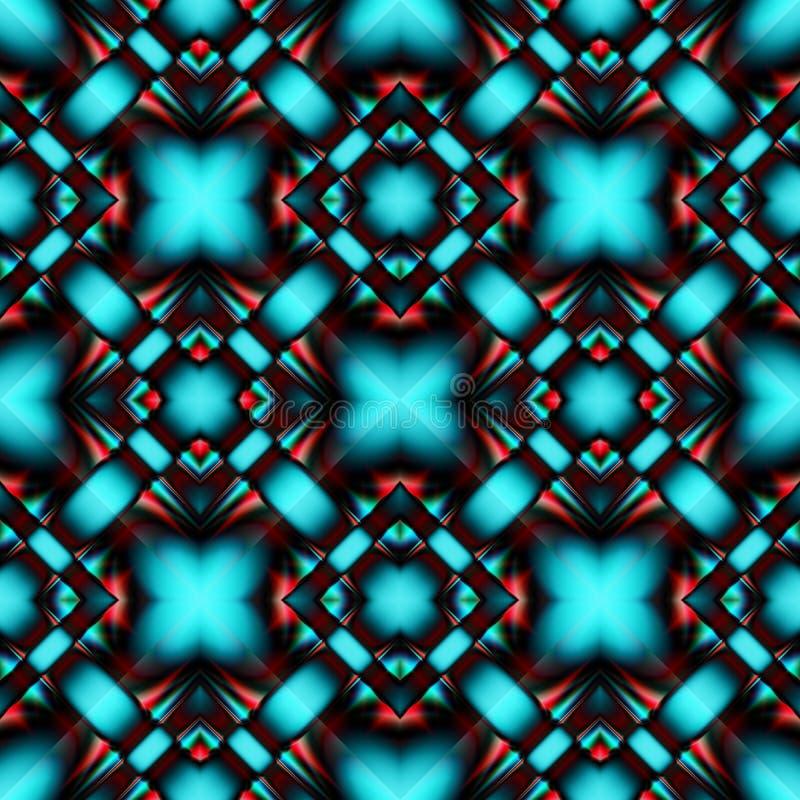 Complex naadloos patroon van ruiten royalty-vrije illustratie