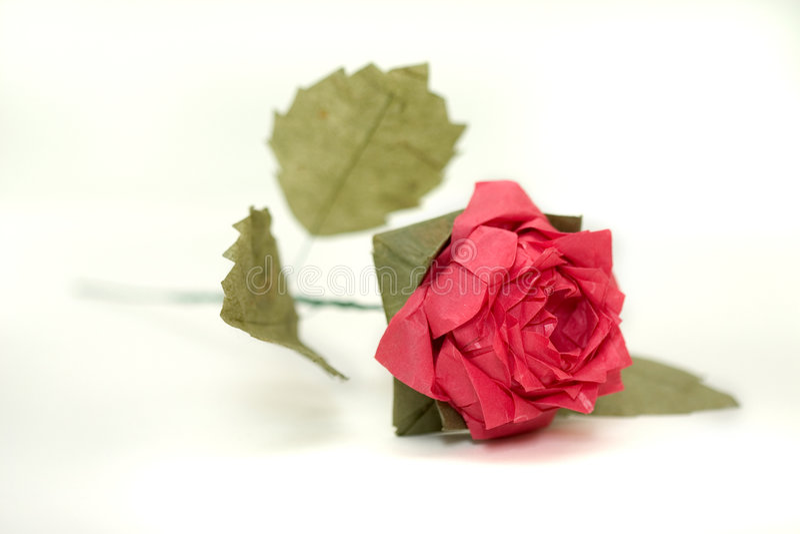 Complex origami rose 2 stock images
