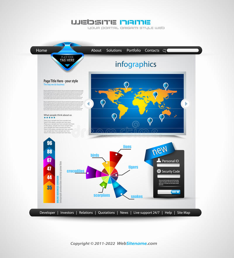 Download Complex Origami Website - Elegant Design Stock Vector - Illustration: 22315380