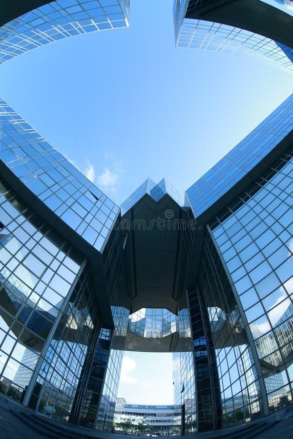 Complex van bureaugebouwen royalty-vrije stock afbeeldingen