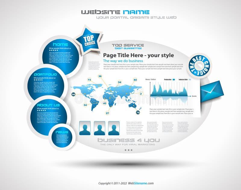 Complex Website Template - Elegant Design stock illustration
