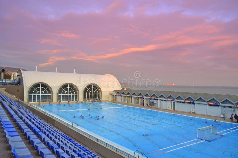 Complex zwemmen royalty-vrije stock fotografie