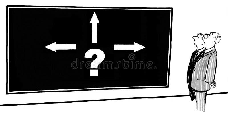 Complexe Besluiten stock illustratie