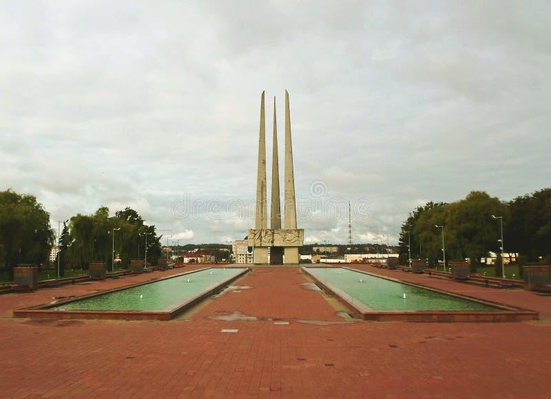 ` Complexe commémoratif de baïonnettes du ` trois images libres de droits