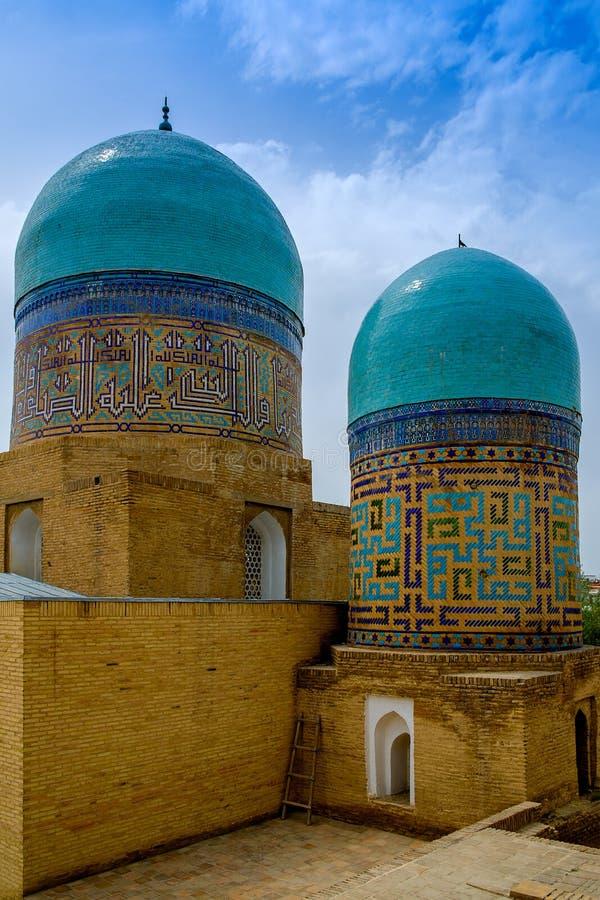Complexe commémoratif de Shah-Je-Zinda, nécropole à Samarkand, l'Ouzbékistan photos stock