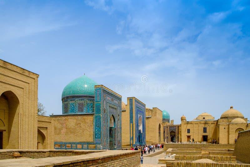 Complexe commémoratif de Shah-Je-Zinda, nécropole à Samarkand, l'Ouzbékistan images libres de droits