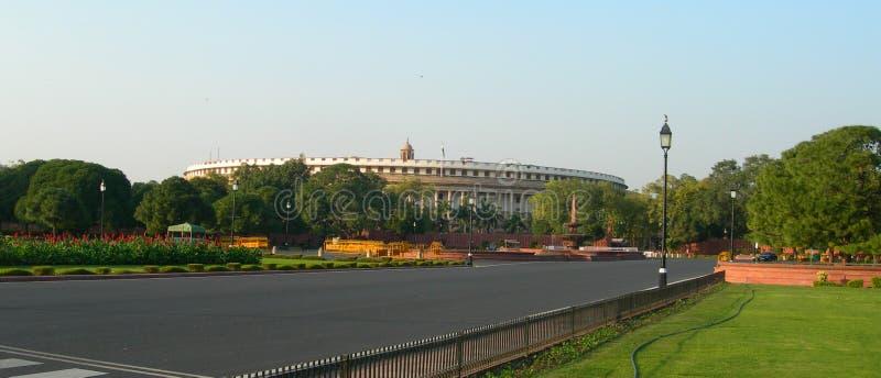 Complexe de bâtiments du Parlement à New Delhi, Inde photo libre de droits