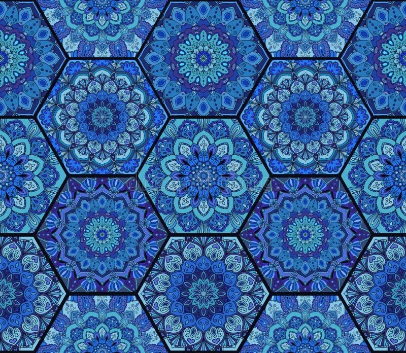Complexe 3 de Honey Comb Hex Pattern Flower illustration libre de droits