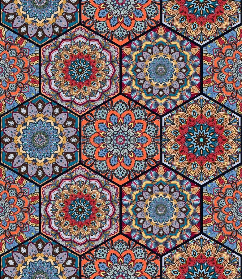 Complexe de Honey Comb Hex Pattern Flower illustration libre de droits