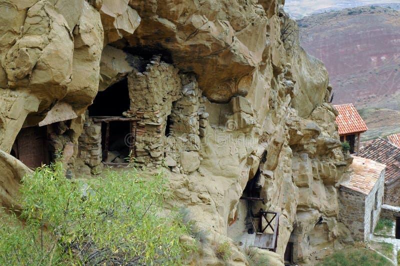 Complexe de monastère de Gareji de davier, la Géorgie image stock