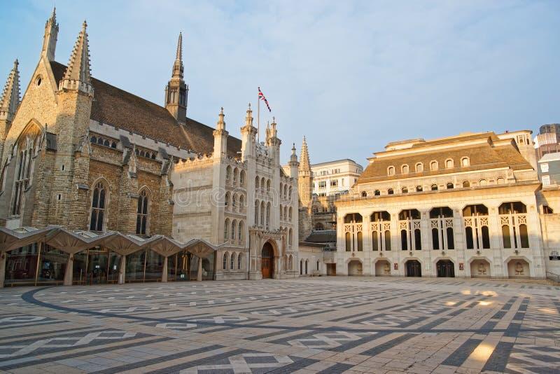 Complexe de palais de corporations dans la ville de Londres Angleterre images libres de droits