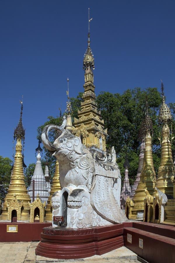 Complexe de temple de Kakku - l'État Shan - Myanmar photographie stock libre de droits