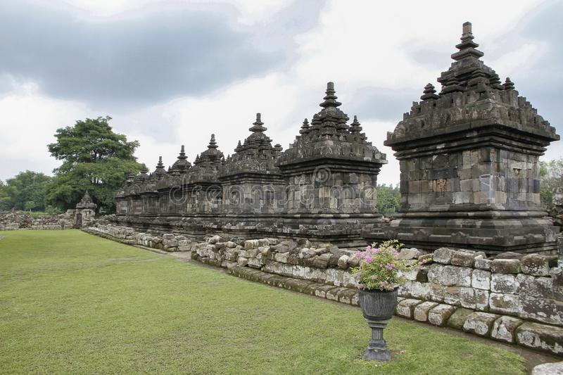 Complexe du Temple de Plaosan, Klaten, Java central, Indonésie photographie stock