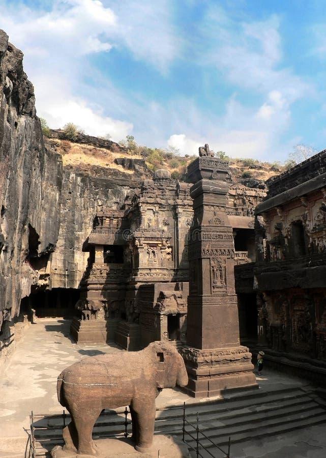 Complexe het hol van Ellora, India royalty-vrije stock afbeelding