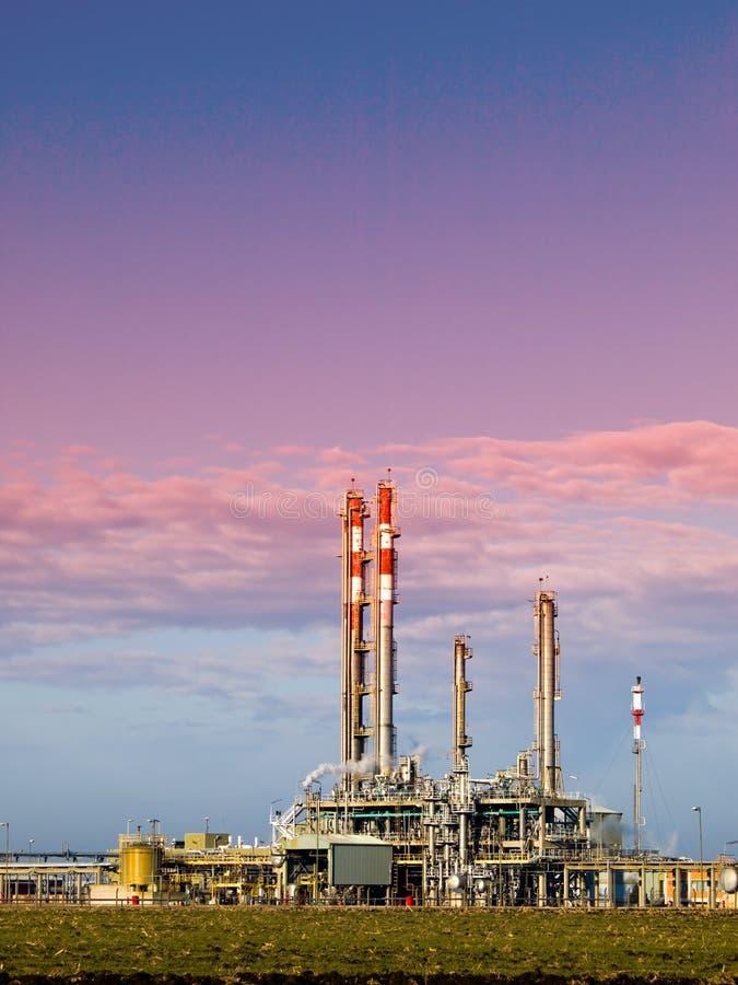 Complexe raffinaderij royalty-vrije stock foto's