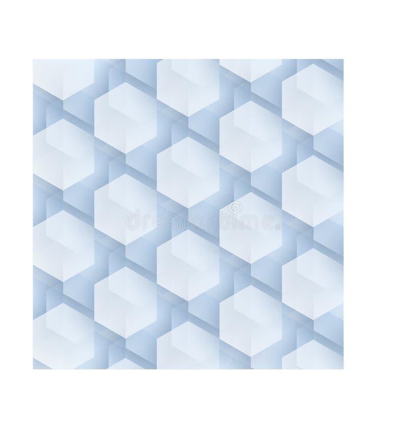 Complexe zeshoekenachtergrond stock illustratie