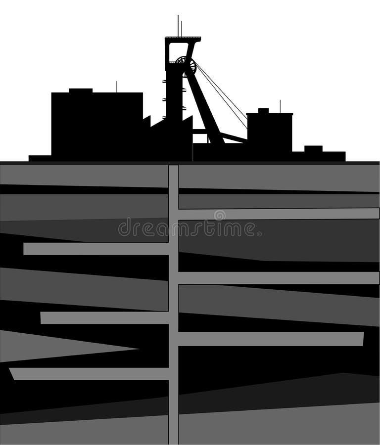 Complexo da mina ilustração royalty free