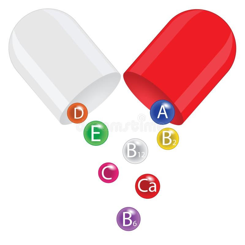 Complexo da vitamina ilustração do vetor