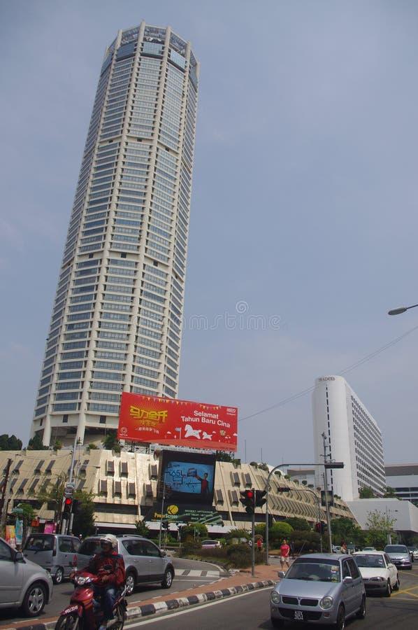 Complexo de Menara Komtar em Penang fotos de stock royalty free