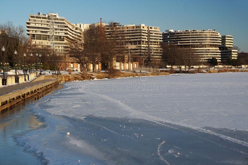 Complexo de Watergate no inverno fotografia de stock royalty free