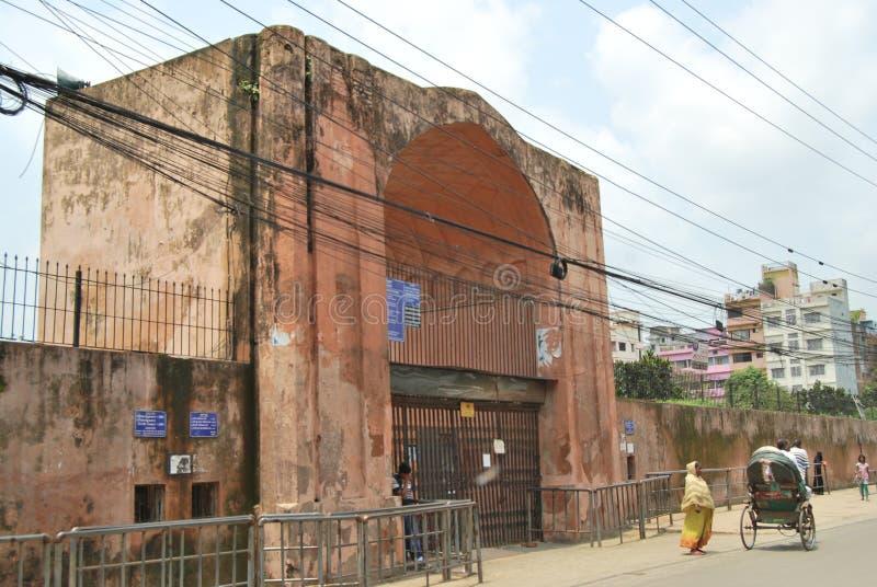 Complexo do forte de Mughal do kella de Lalbagh que está antes do rio de Buriganga imagem de stock