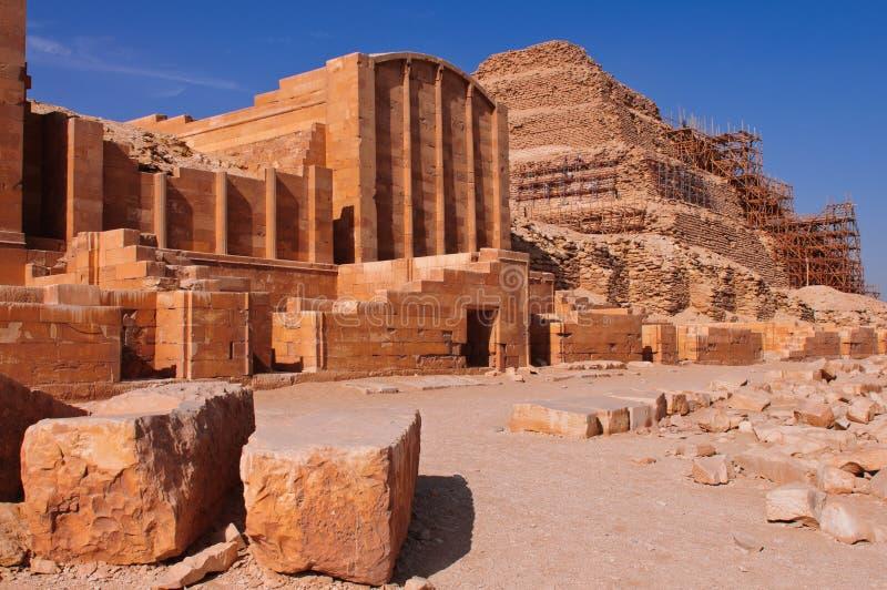 Complexo do funeral do rei Djoser fotografia de stock royalty free