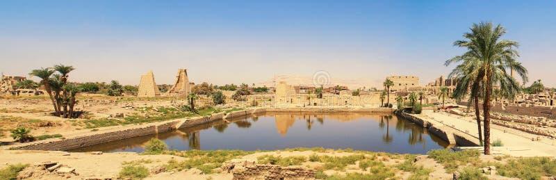 Complexo do templo de Karnak fotografia de stock
