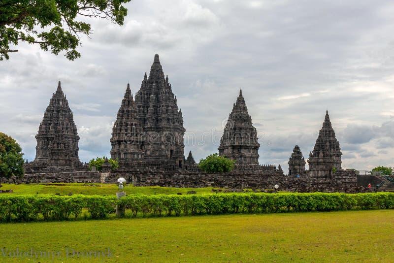Complexo do Templo de Prambanan, Yogyakarta, Java Central, Indonésia imagem de stock