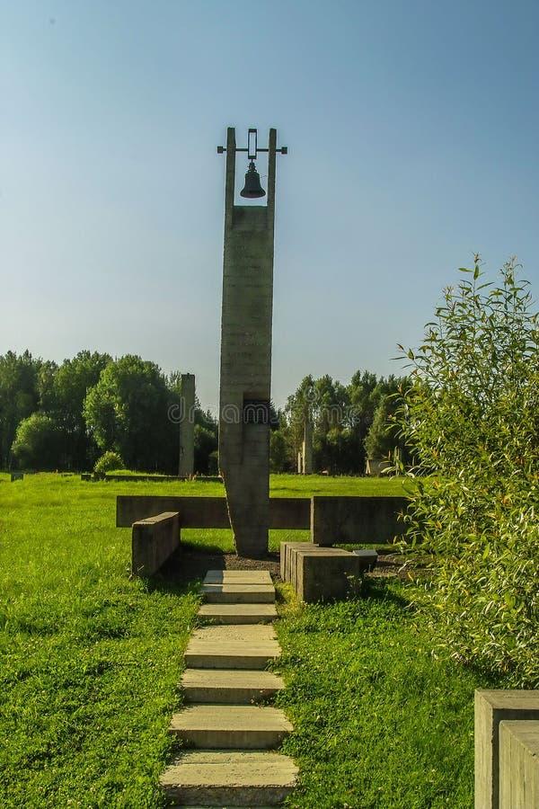 Complexo memorável de Khatyn no Republic of Belarus imagem de stock royalty free