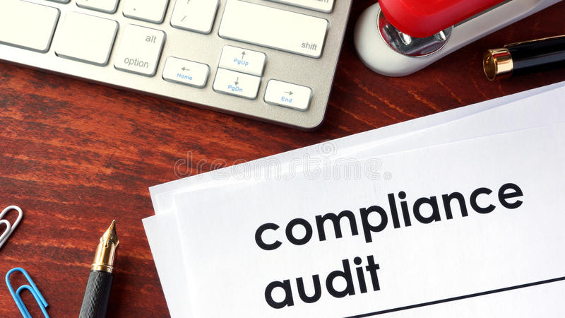 Compliance audit. royalty free stock photo