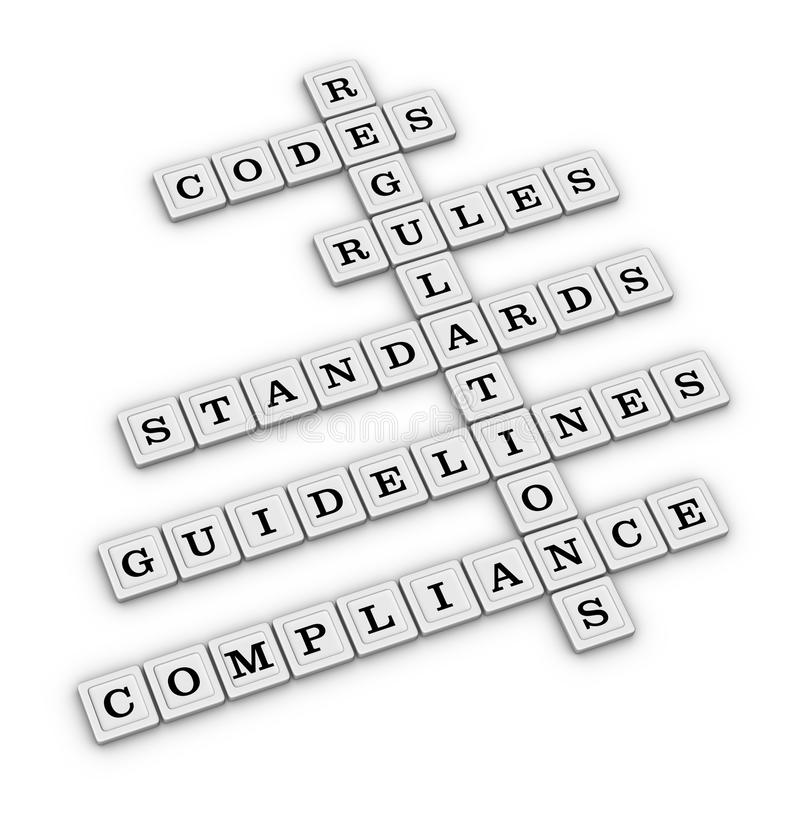 Compliance crossword puzzle royalty free illustration
