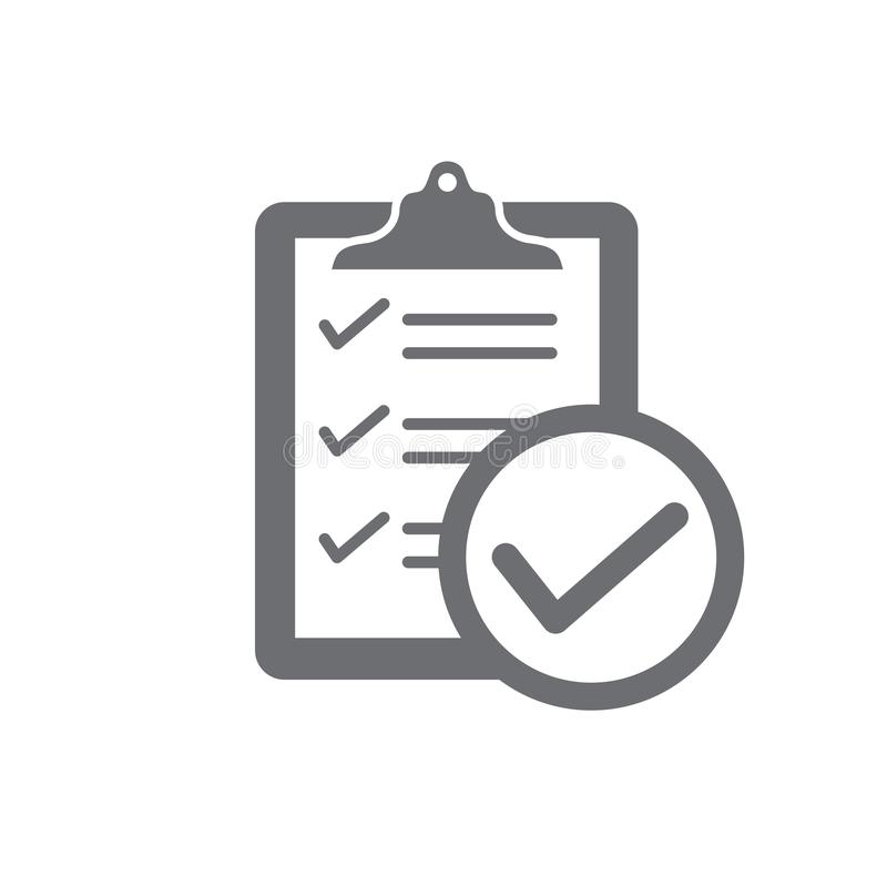 In compliance - icon set that shows company passed inspection stock illustration
