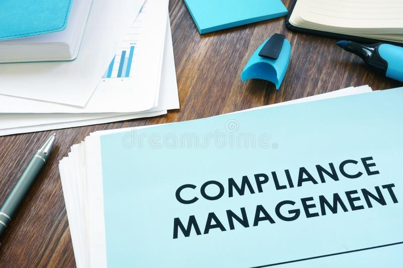Compliance management. Stack of the papers. Compliance management concept. Stack of the papers royalty free stock images