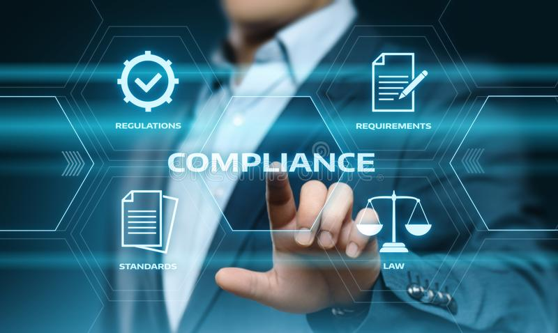 Compliance Rules Law Regulation Policy Business Technology concept royalty free stock photos