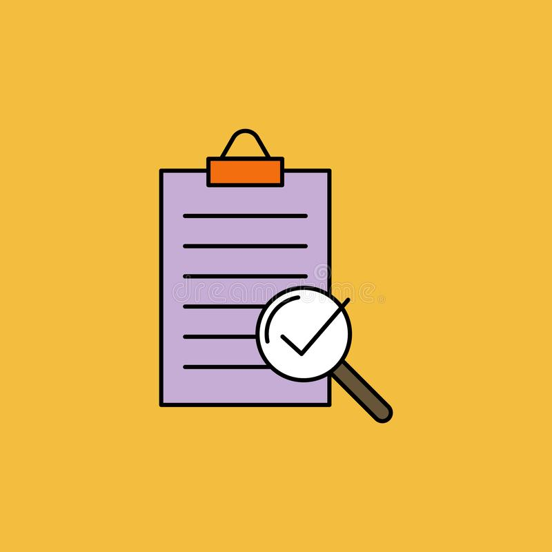 Compliance vector color icon, quality check stock illustration