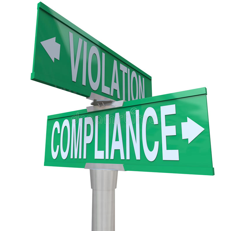 Free Compliance Vs Violation Street Road Sign Direction Advice Follow Royalty Free Stock Photography - 38361387