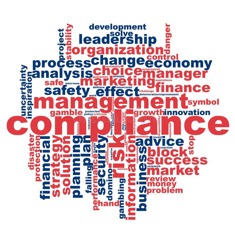 Compliance word cloud royalty free illustration