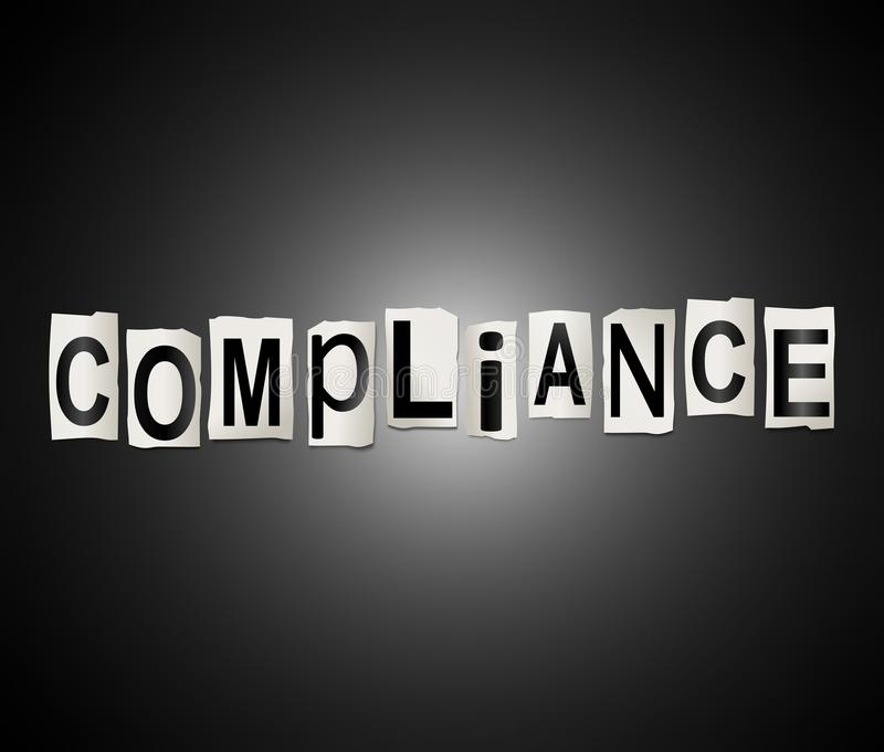 Compliance word concept. royalty free illustration
