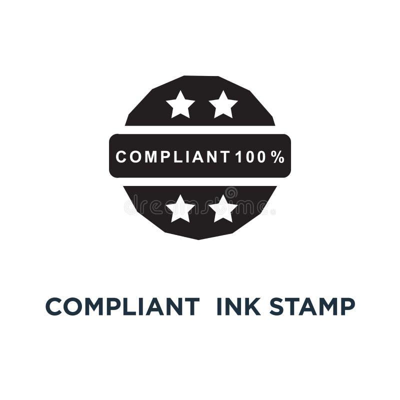 Compliant green ink stamp icon. Simple element illustration. Com vector illustration