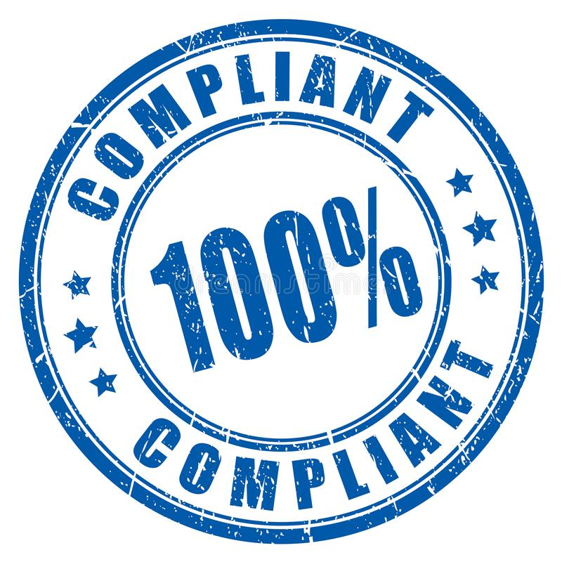 Compliant round vector stamp royalty free illustration