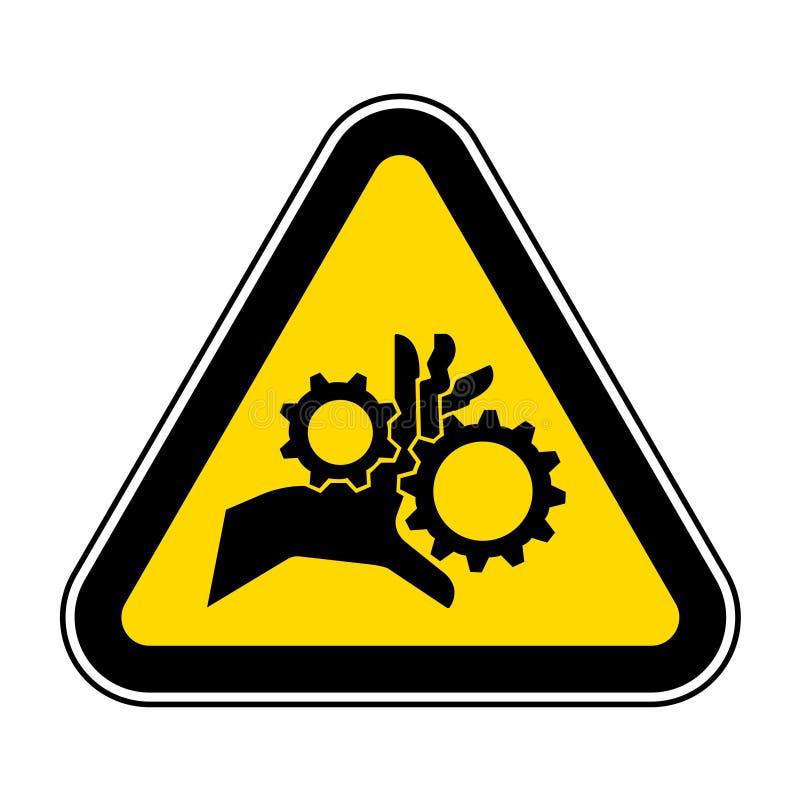 A complicação da mão que gerencie alinha o isolado do sinal do símbolo no fundo branco, ilustração EPS do vetor 10 ilustração do vetor