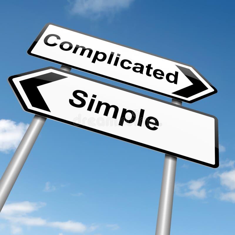 Complicado o simple. ilustración del vector